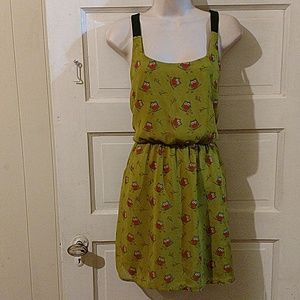Emerald Sundae Sleeveless Owl Dress L Junior's